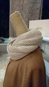 Hand knitted- cream colour